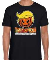 Trumpkin make halloween great again t-shirt zwart voor heren