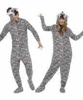 Verkleedkleren zebra voor volwassenen