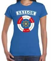 Zeeman sailor verkleed t shirt blauw voor dames